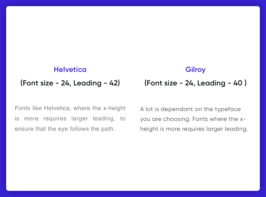 Leading-Typeface