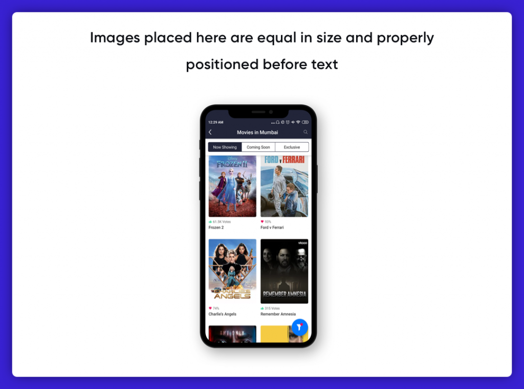 Imagery in UI Design- Equal size