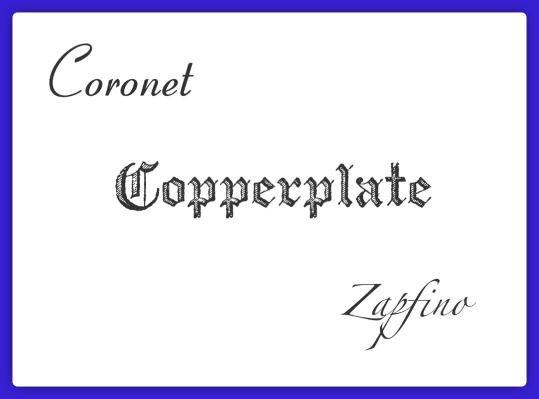 Calligraphy Script Typeface